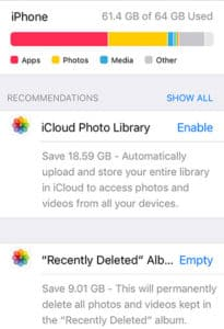 how to manage iPhone storage - recently-deleted