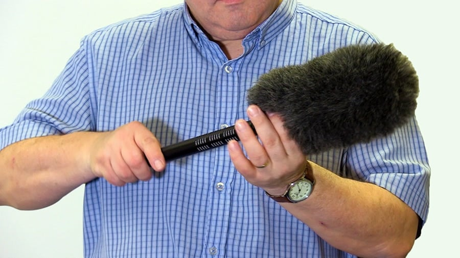 how to reduce wind noise when recording outside using a Rycote Softie on a Sennheiser ME66 shotgun microphone.