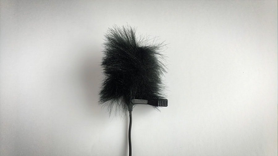 Step 8 - Making a DIY Mic fuzzy thing or dead cat for a lapel microphone. The finished DIY dead cat for lapel microphones. We finally have our homemade mic fuzzy thing.