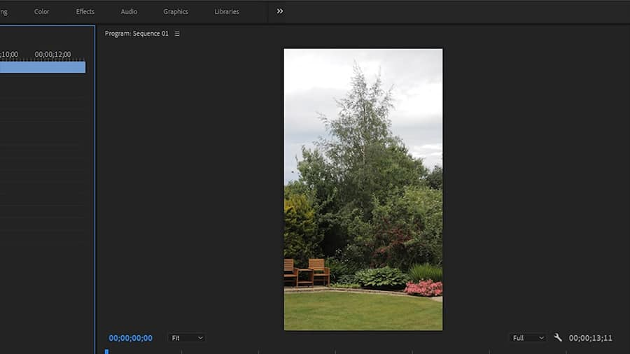 The clip now is correctly orientated. How to make a vertical video for Instagram.