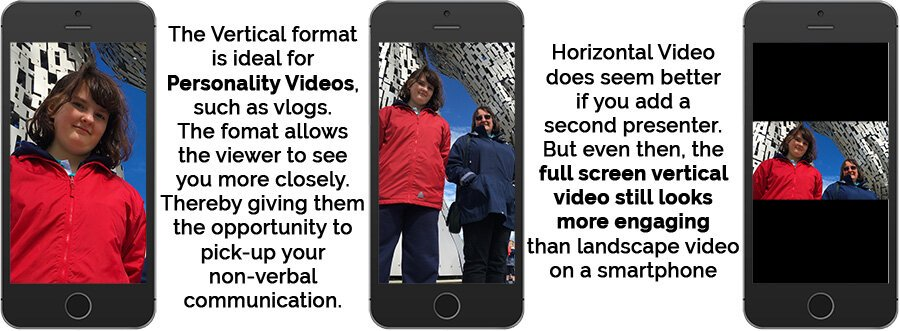 We show that vertical video is ideal for personality videos.