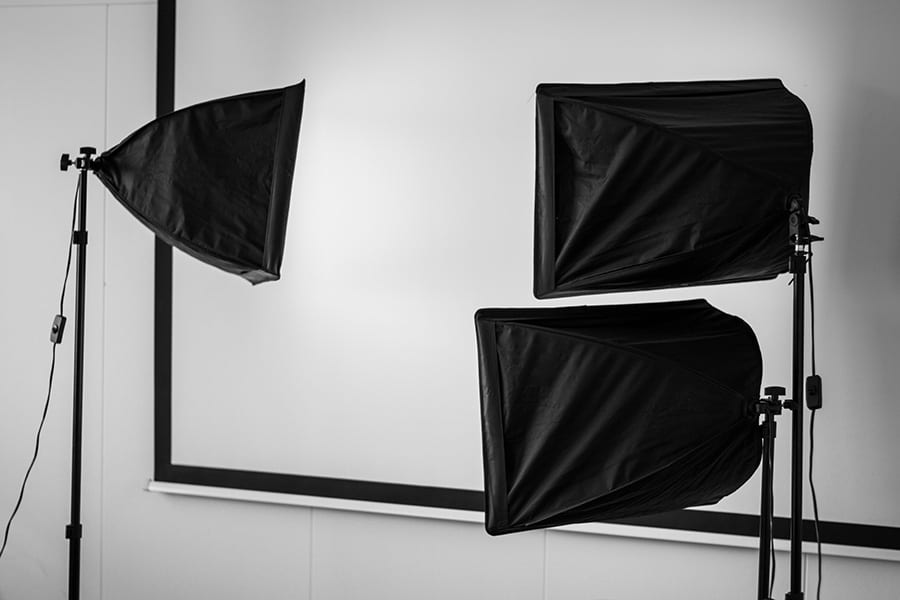 Three small soft box lights - what does a softbox do?