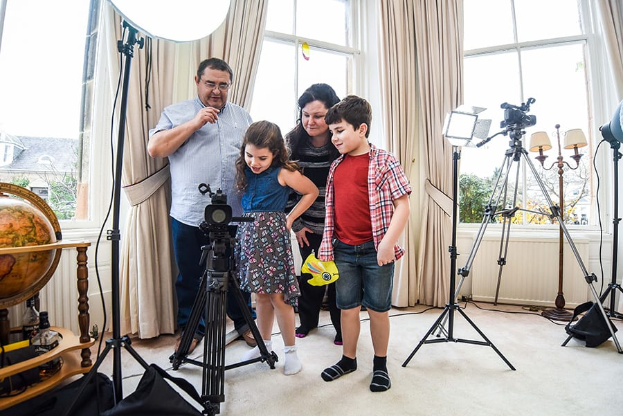 Filming a Television commercial for a childrens toy product