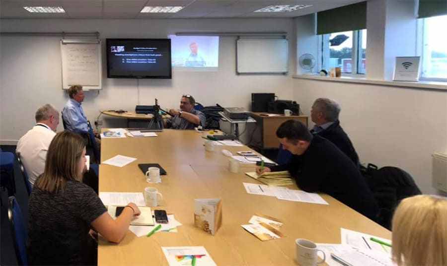 Presenting smartphone video training at Ayrshire Chamber of Commerce