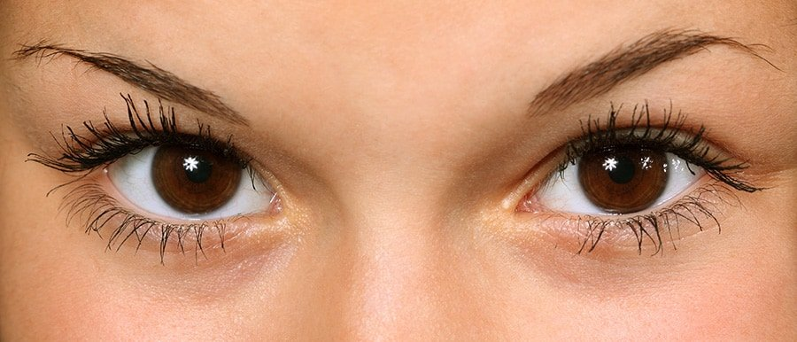 Close up of a young woman's eyes