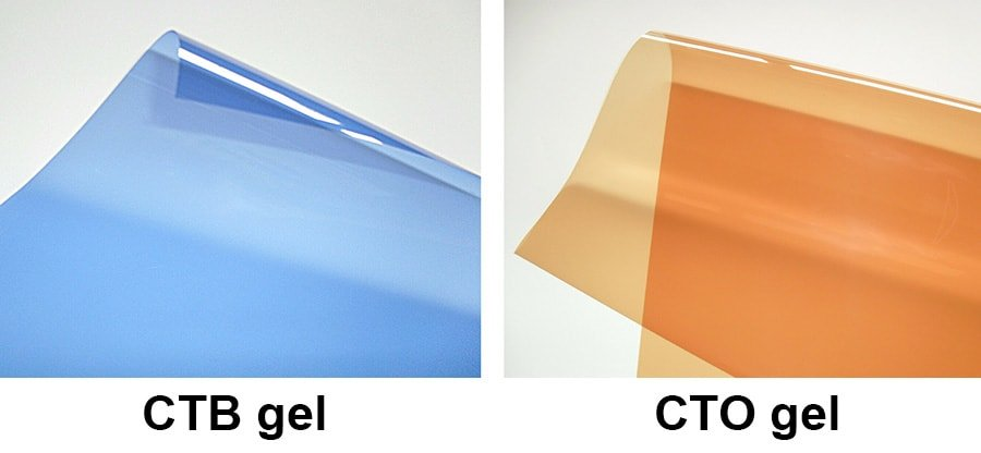 Color correcting gels