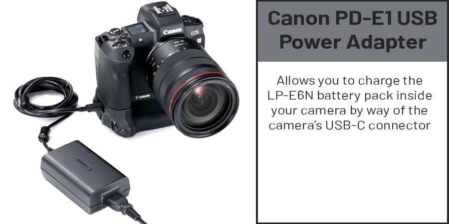 eos r power adapter