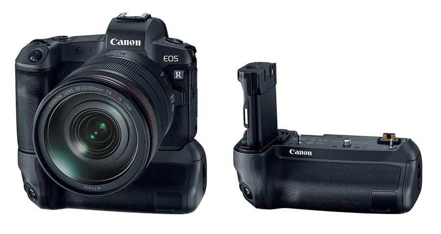 Canon EOS R and BG E22 battery grip