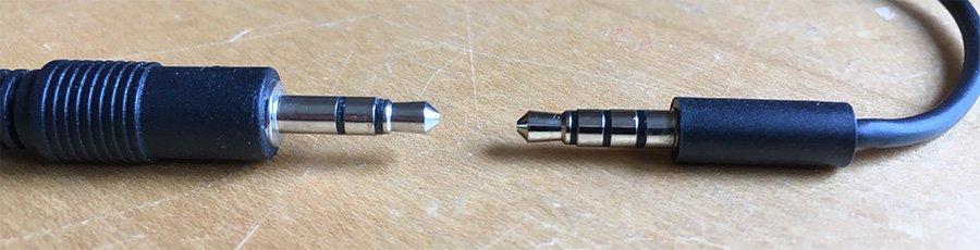 3.5mm TRS jack vs 3.5mm TRRS jack