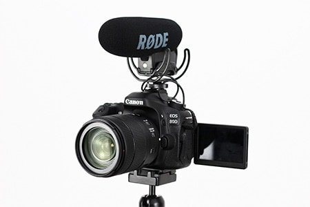 Most video mics are mounted on or next to the camera. However, the quality of your recorded sound will be much better if you mount the mic closer to your speaker's mouth.