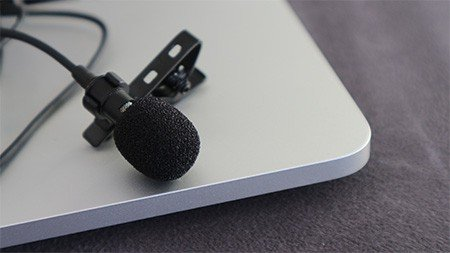 A clip on lavalier microphone can be hidden on or beneath clothing