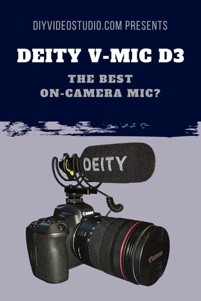 Best On-Camera Mics: V-Mic D3 a good microphone for vlogging - Pinterest image