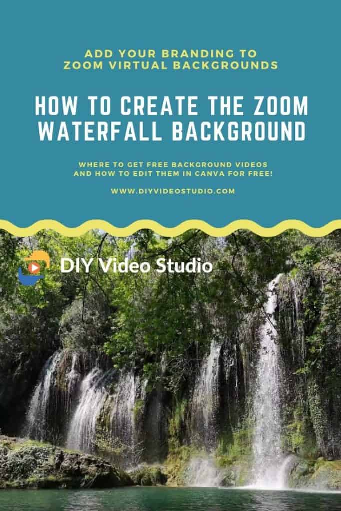 How to create the zoom waterfall background in Canva