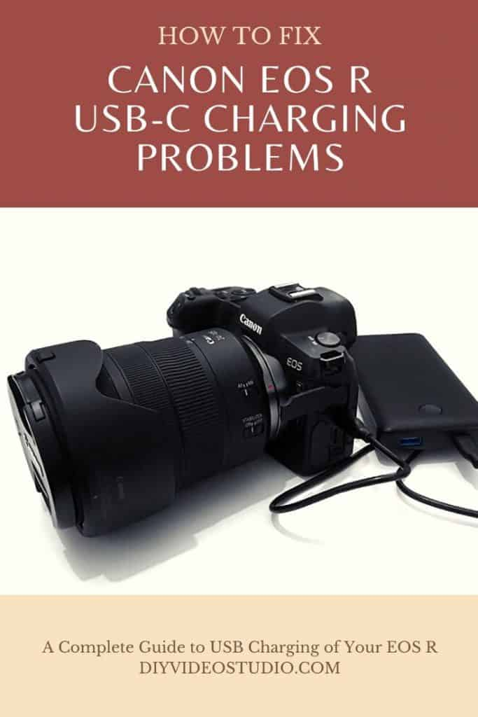 How to fix Canon EOS R USB-C charging problems - Pinterest image