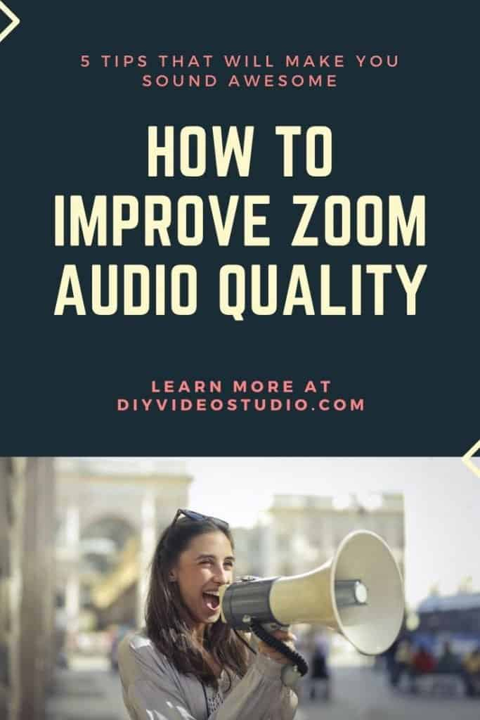 How to improve Zoom audio quality - Pinterest image