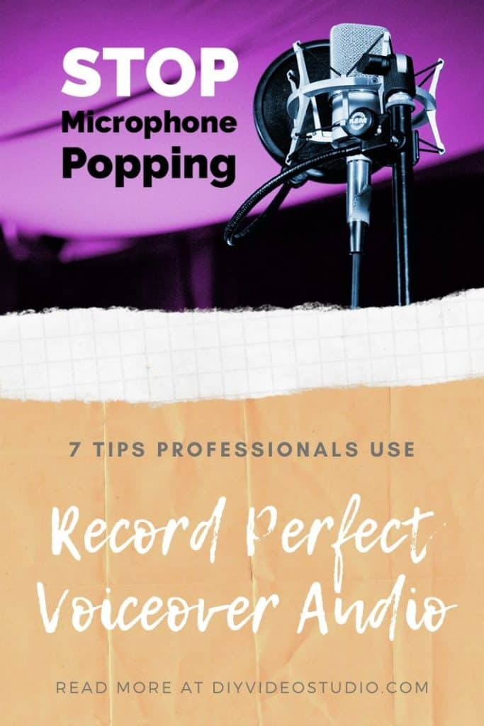 Stop microphone popping - Pinterest graphic