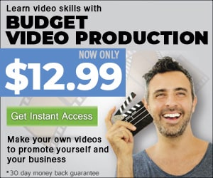 Budget Video Production course @ $12.99 Coupon Code FALL1299