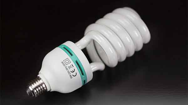 55W CFL light bulb