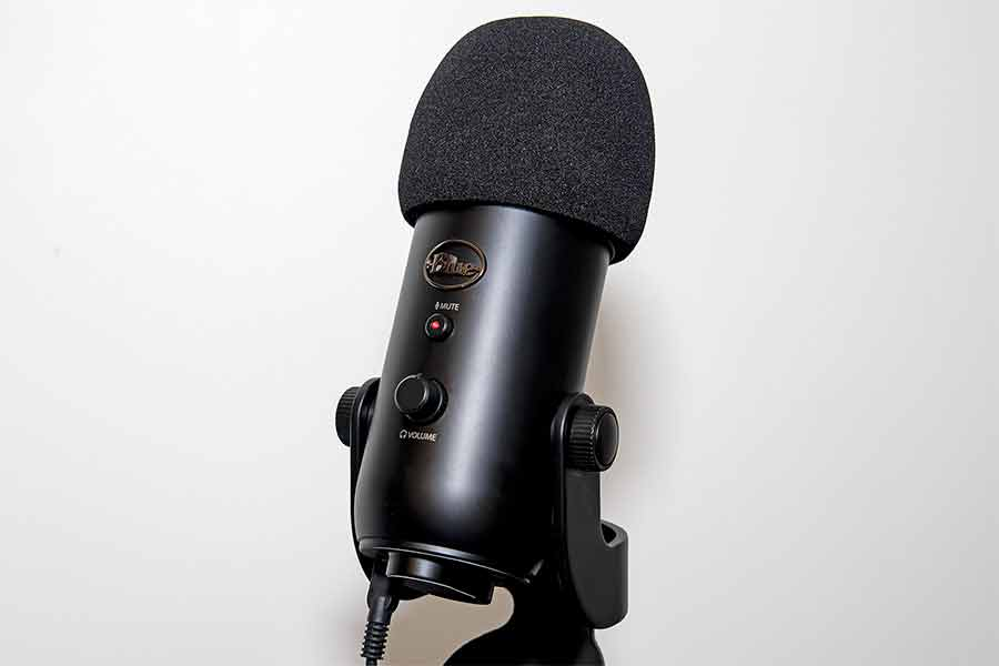 Blue Yeti with foam pop filter