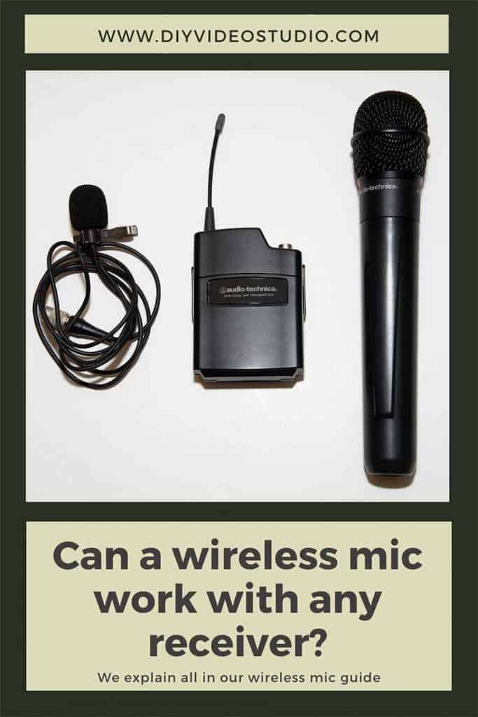 Can a wireless mic work with any receiver - Pinterest Graphic