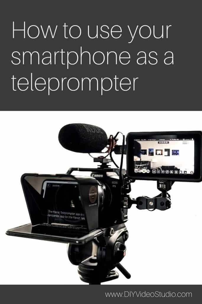 Can you use your phone as a teleprompter - Pinterest Graphic