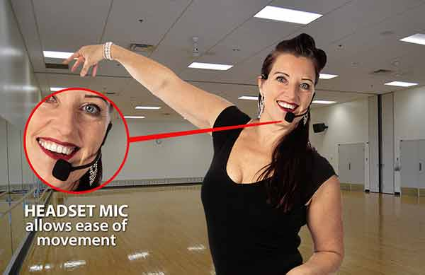 Dance-Teacher with headset