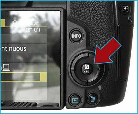 Canon EOS R SET button
