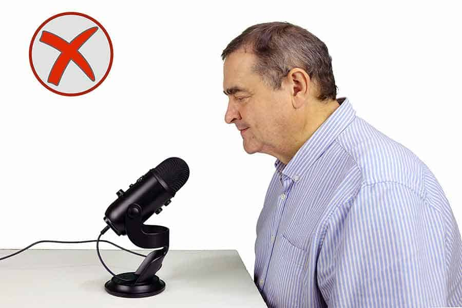 How not to use a Blue Yeti microphone