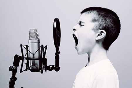 Yelling won't help you get heard. Get closer to the microphone.