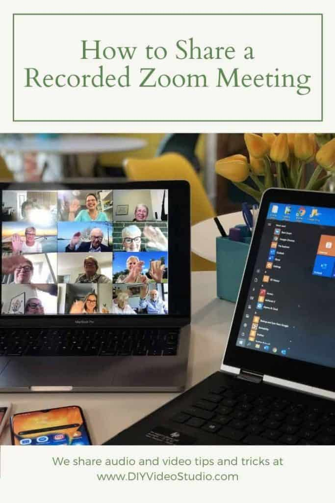 How to Share a Recorded Zoom Meeting - Pinterest Graphic