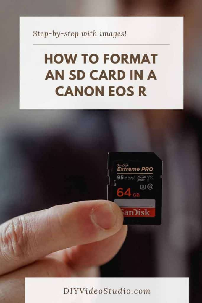 How to format the SD card on a Canon EOS R