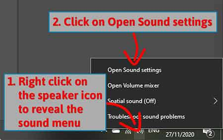Open Sound settings 2