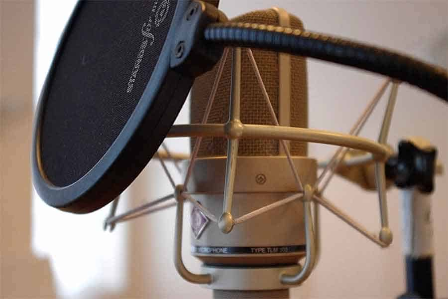 A Pop Filter and Microphone