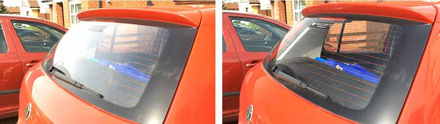 Remove glare from video clips - Before and after using a CPL filter to remove unwanted reflections