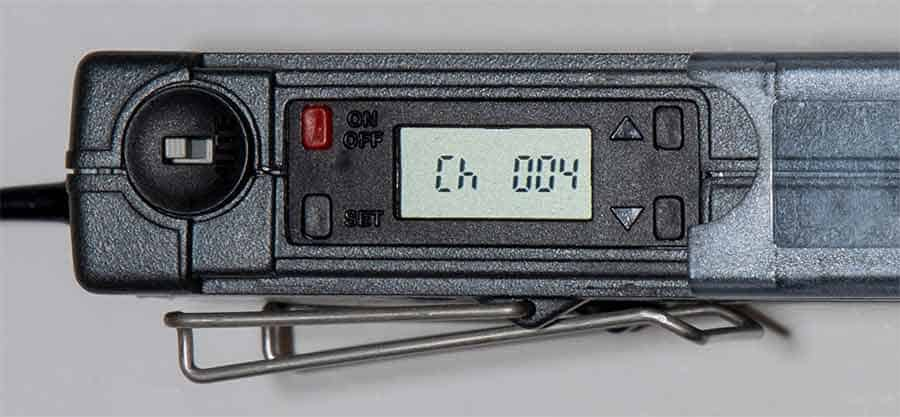 Sennheiser ew100 control panel