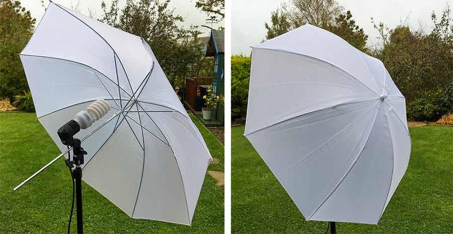 Shoot through Umbrellas