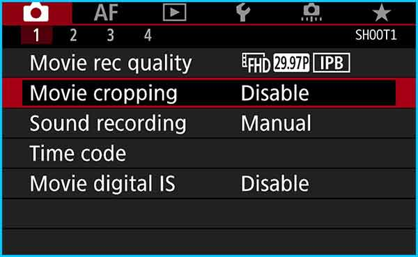 Step 7 – Disable movie cropping