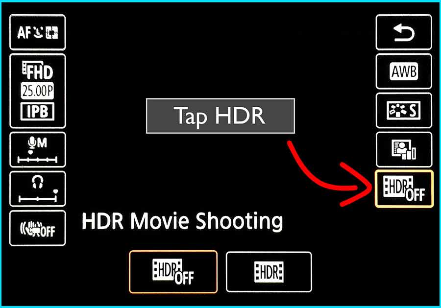 Turn on HDR - Step 2