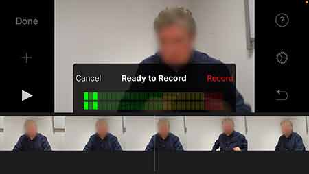 iMovie for iOS record voiceover