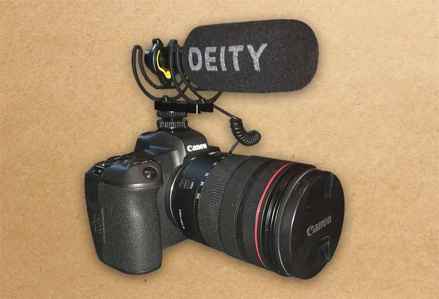 Deity V-Mic D3 on a Canon EOS-R mirrorless camera