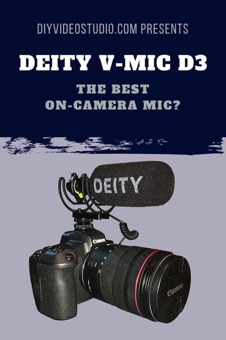 Best On-Camera Mics: V-Mic D3 a good microphone for vlogging - Pinterest image