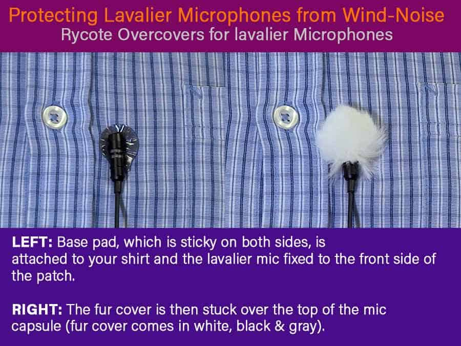How to reduce wind noise when recording outside using Rycote Overcovers.