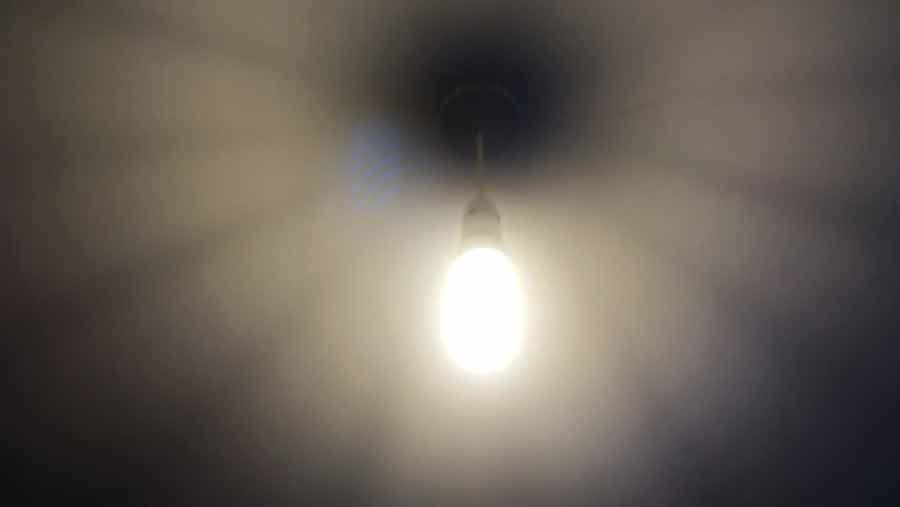 DIY Video Background CFL bulb 2
