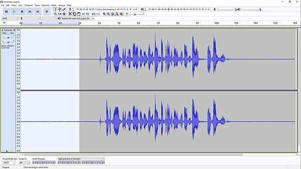 remove background noise in Audacity - Step 1