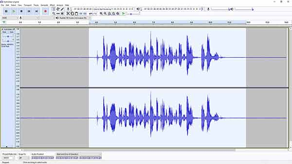 remove background noise in Audacity - step 4