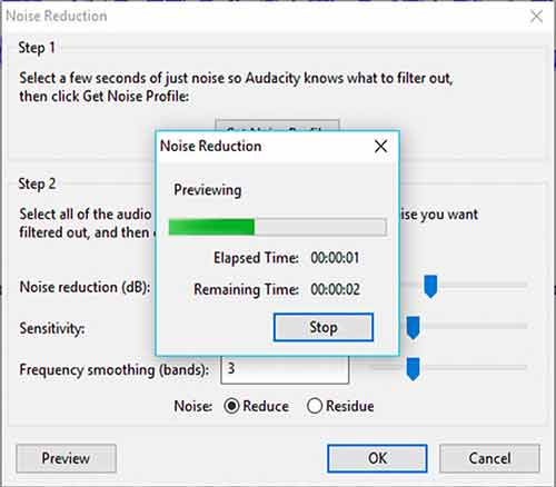 remove background noise in Audacity - Step 5