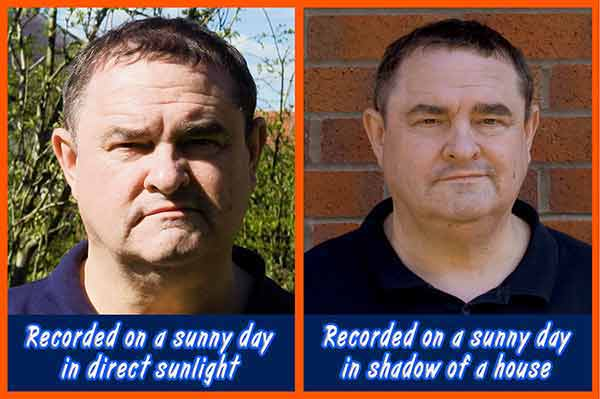 Outdoor Lighting - Direct sunlight and in shadow