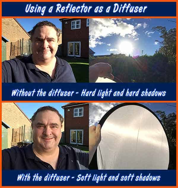 How to film in direct sunshine - Using a Reflector as a Diffuser