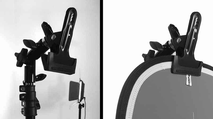 How to film yourself with an iphone and grey card - Reflector clamp
