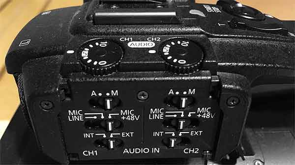 ideal audio levels for video - Canon XF100 Audio Controls